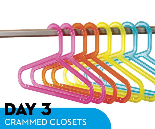 Day 3: Crammed Closets