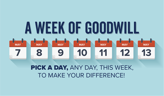 A Week of Goodwill, Pick a day, any day, this week, to make your difference