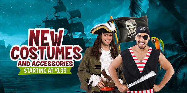 New Costumes and Assessories starting at $9.99