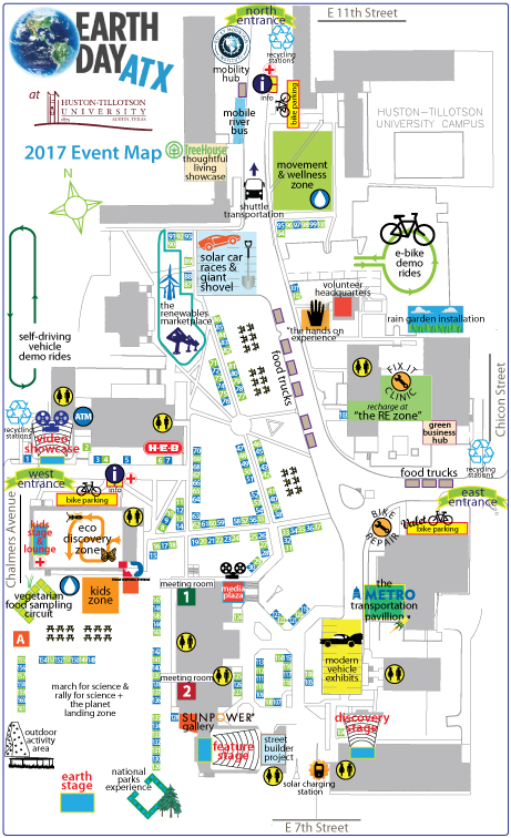 Earth day ATX Event Map