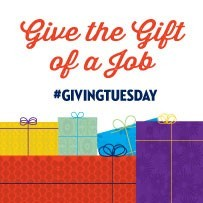 Give the gift of a job #Givingtuesday