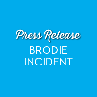 Press Release: Brodie Incident