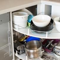 crammed corner cupboard