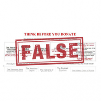 Think Before You Donate:  False