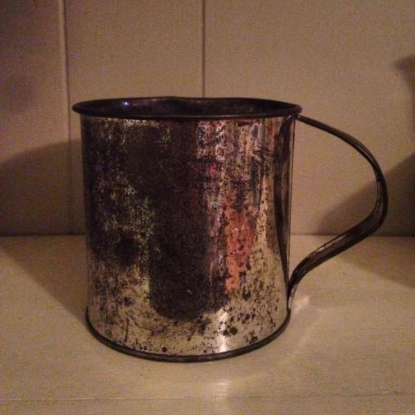 before: ugly metal cup