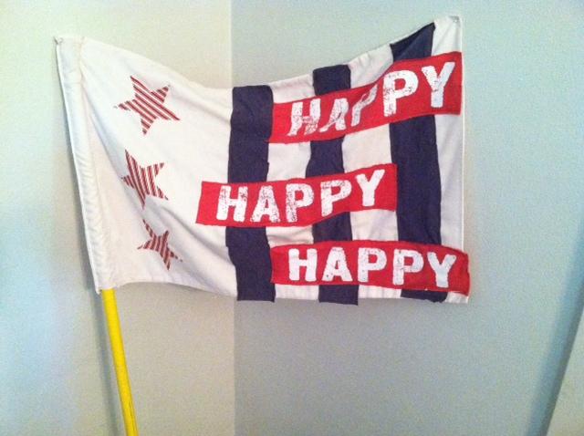 final flag on pole