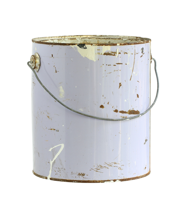 can with old paint inside