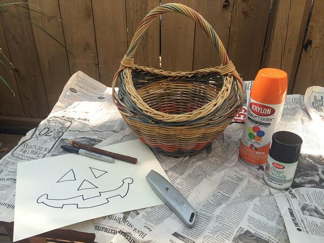 pumpkin basket supplies