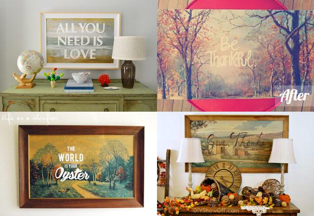 thrift store art collage