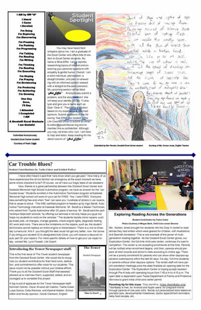 Click to link to the 1st issue of Excel Student Newspaper