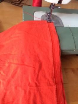 shirt on sewing machine