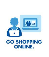 Go shopping online.