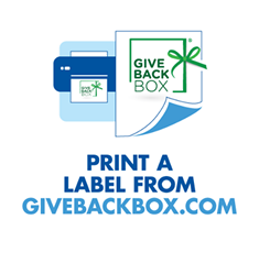 Print a label from givebackbox.com