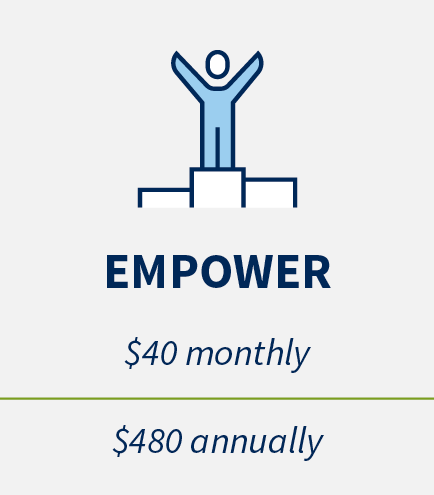Empower: $40 monthly, $480 annually